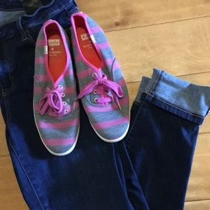 Kate spade ♠️ Pink and gray colored tennis shoes